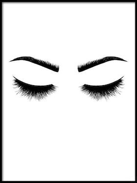 Poster Blundande ögon