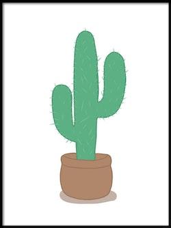 Poster Grön kaktus