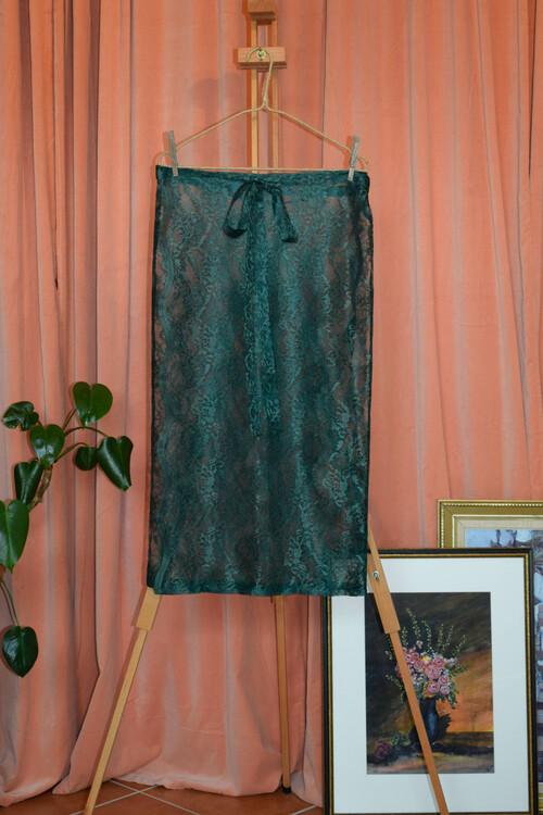 Flora kjol - Grön spets