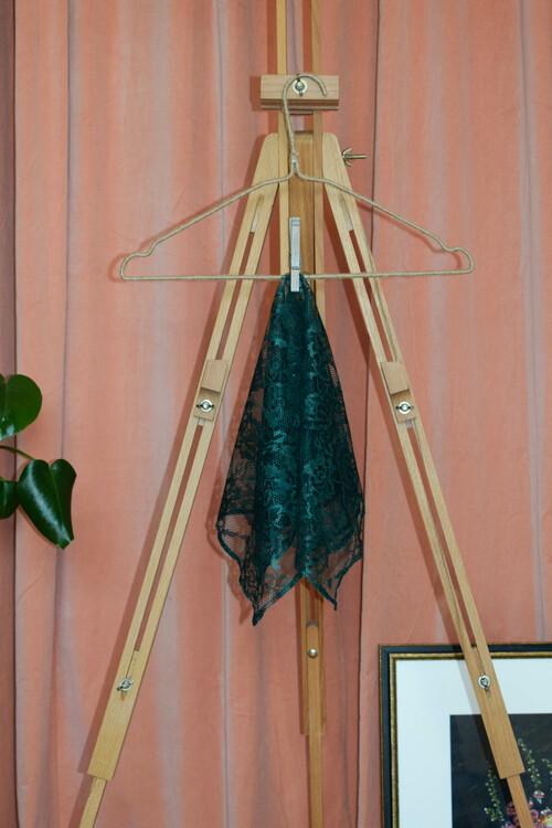 Inga scarf - Grön spets