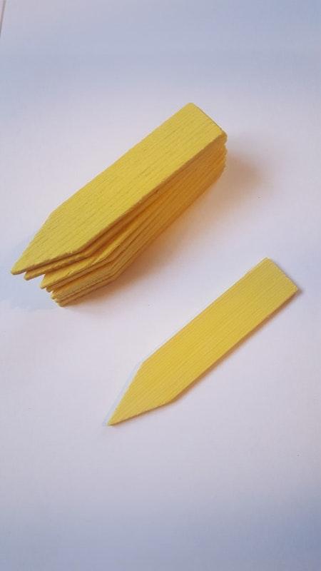 Sticketiketter trä, 10 st