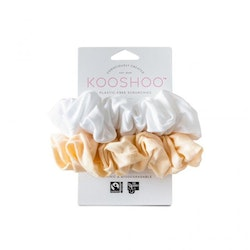 Organic Scrunchies by KOOSHOO - Natural Light