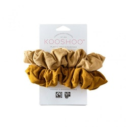 Organic Scrunchies by KOOSHOO - Gold Sand