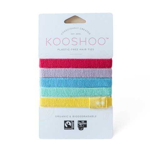 KOOSHOO Organic Hair Ties - Rainbow