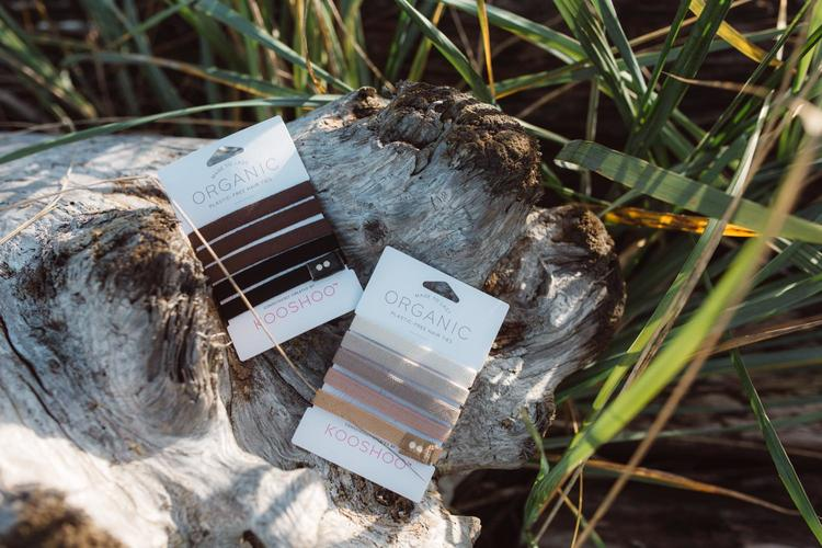 KOOSHOO Organic Hair Ties - Brown/Black