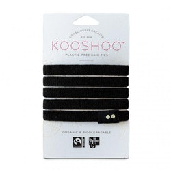 KOOSHOO Organic Hair Ties - Black