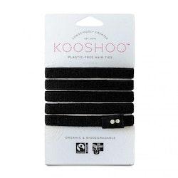KOOSHOO Organic Hair Ties - Black