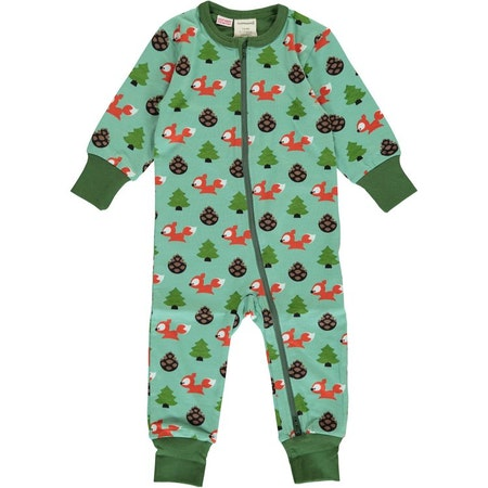 Maxomorra Pyjamas Rompersuit Busy Squirrel