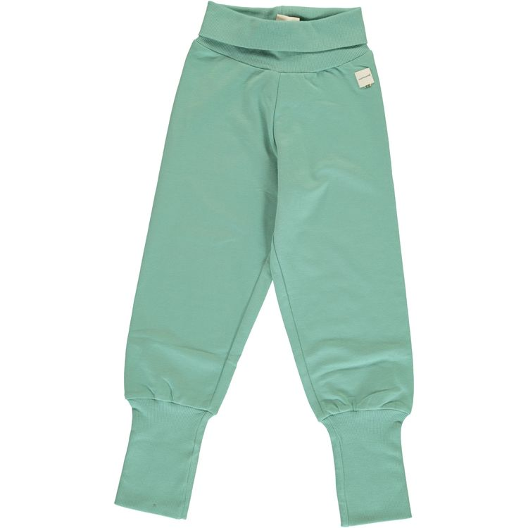 Maxomorra Pants Rib Soft Teal