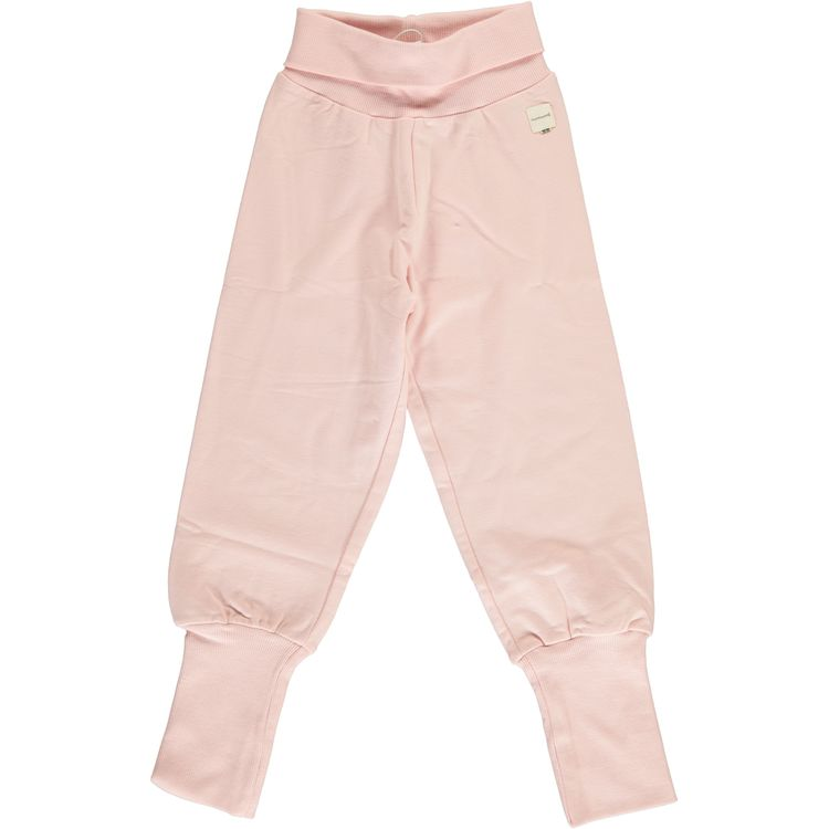 Maxomorra Pants Rib Pale Blush