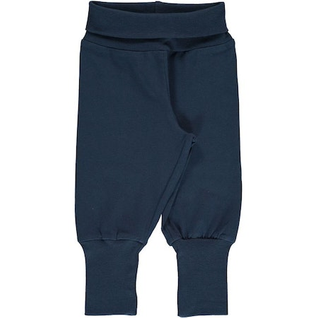Maxomorra Byxa Pants Rib Solid Midnight