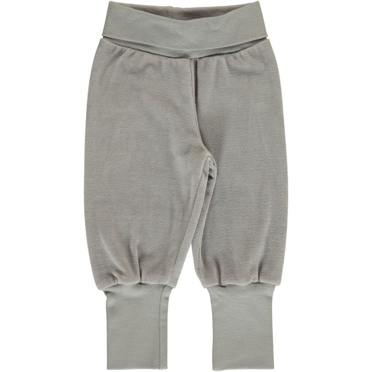 Maxomorra Byxa Pants Rib Solid Dusty Grey