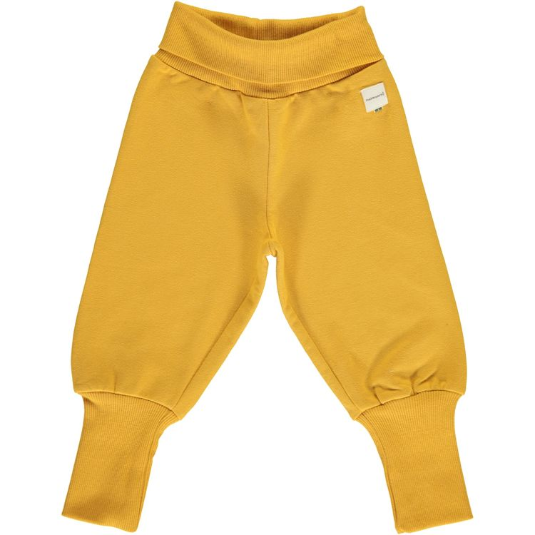 Maxomorra Pants Rib Sweat Ochre