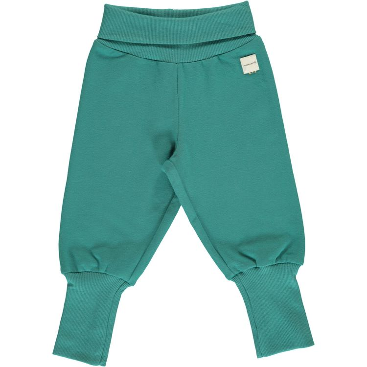 Maxomorra Pants Rib Sweat Teal