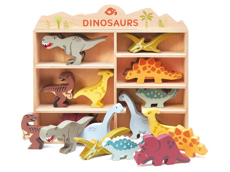 Velociraptor i trä, Tender Leaf Toys