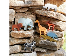 Noshörning i trä, Tender Leaf Toys