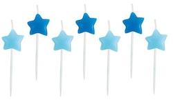 Tårtljus stjärna blå