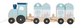 Tåg med klossar blå, Jabadabado