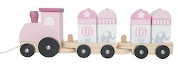 Tåg med klossar rosa, Jabadabado