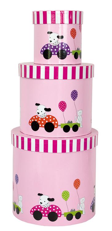 Förvaringsask dalmatiner rosa, Jabadabado