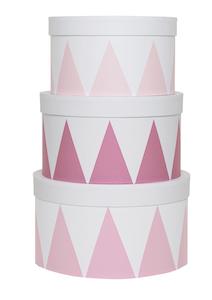 Förvaringsask rosa 3-pack, Jabadabado
