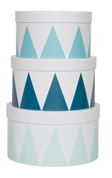 Förvaringsask blå 3-pack, Jabadabado