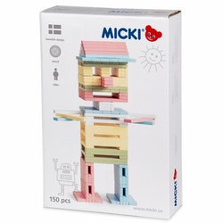Byggstavar pastell 150 st, Micki