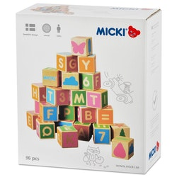Alfabetsklossar 36 st, Micki