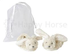 Rabbit Richie Tossor i organza påse, vit, Happy Horse