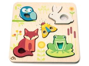 Pussel 'Känna på djur', Tender Leaf Toys