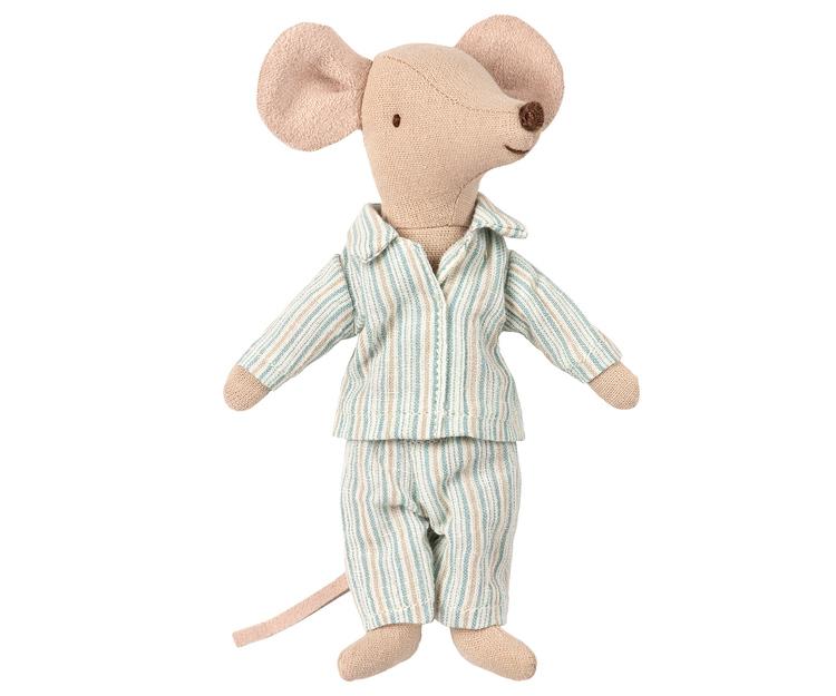 Storebror mus med pyjamas i ask, Maileg