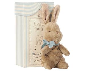 Min första kanin i ask, blå, Maileg