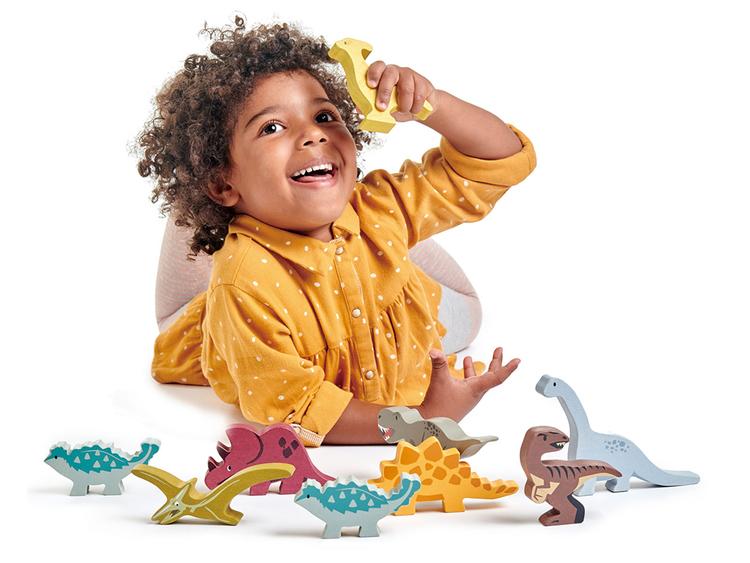 Brontosaurus i trä, Tender Leaf Toys