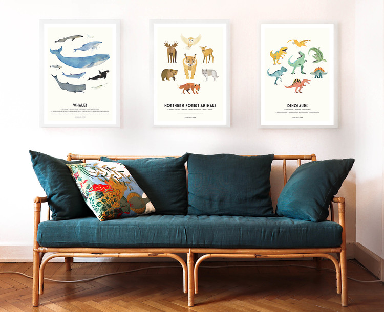 Poster Whales, Casablanca paper