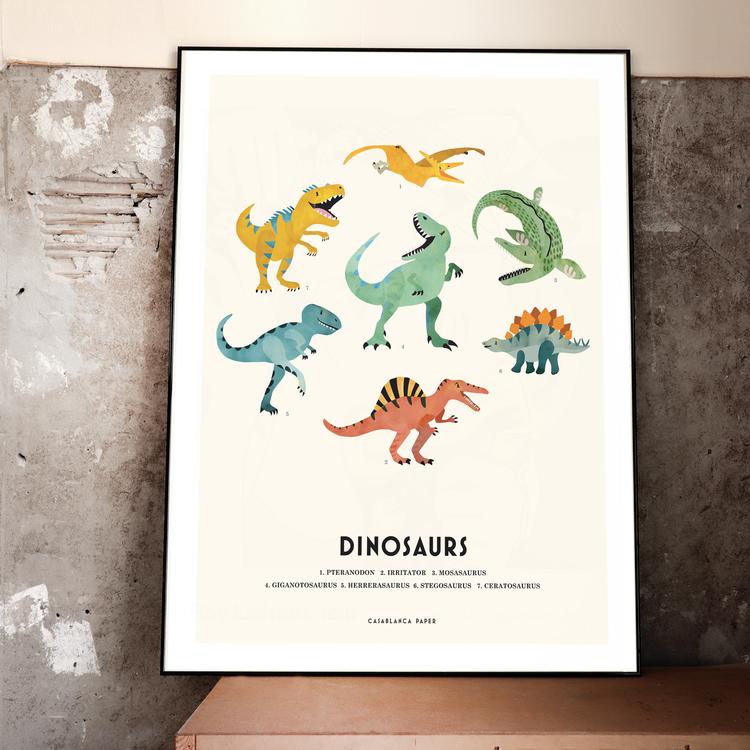 Poster Dinosaurs, Casablanca paper