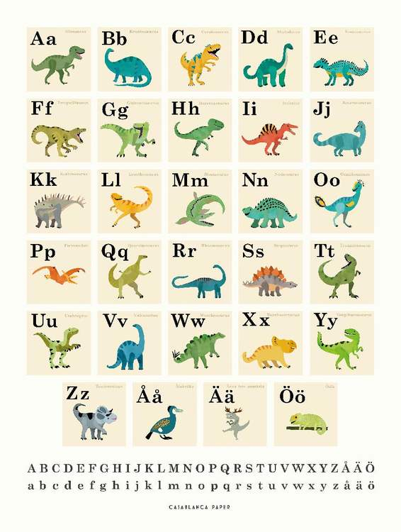 Poster Dinosaurs ABC, Casablanca paper