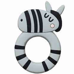 Bitleksak i silikon Zebra, Rätt start