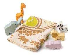 Lekmatta med tillbehör safari, Tender Leaf Toys