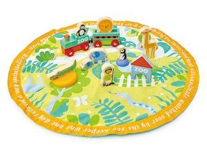 Lekmatta med tillbehör: zoo, Tender Leaf Toys