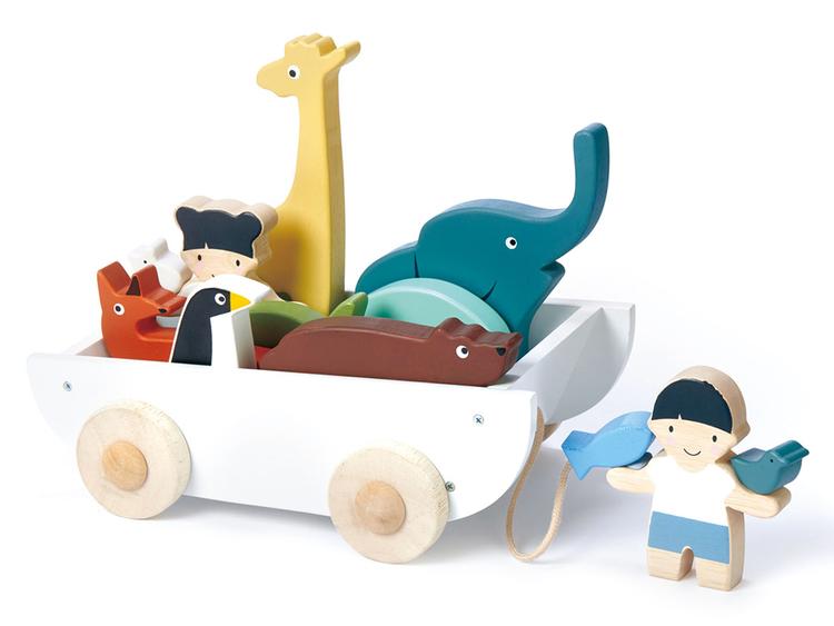 Vagn med djur, Tender Leaf Toys