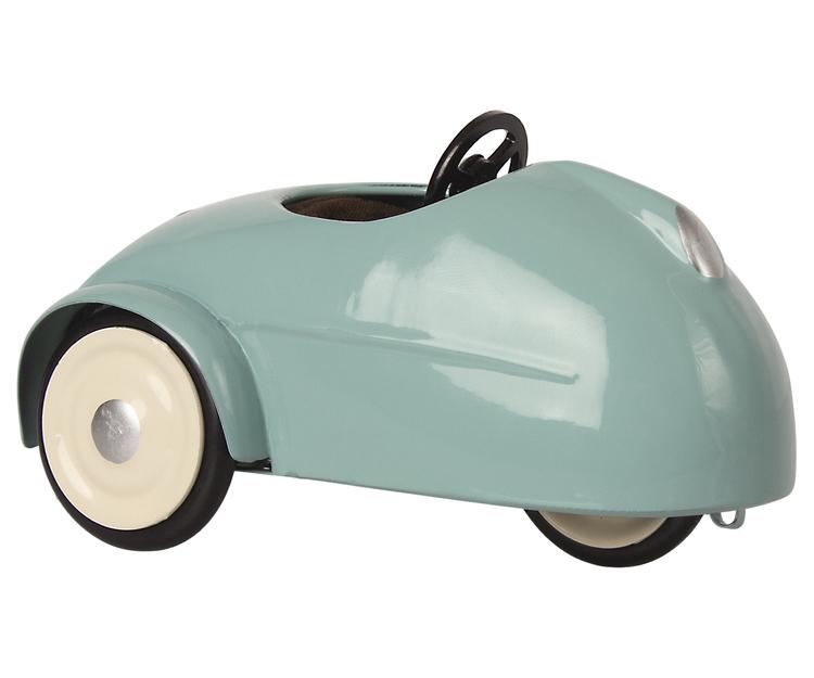 Lillebror mus, Bil med garage blå, Maileg