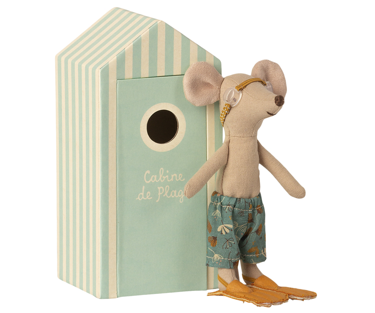Storebror mus i strandhytt, Maileg