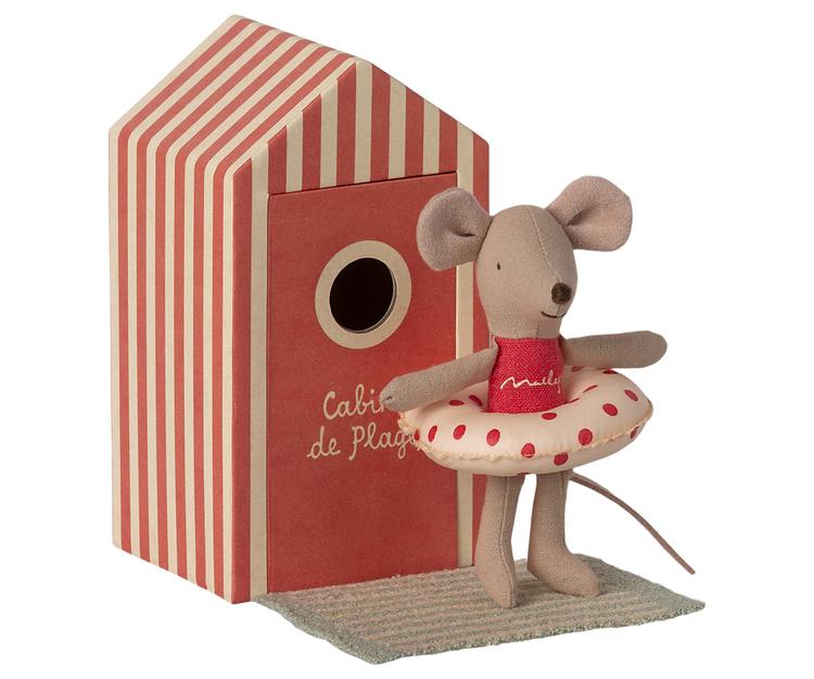 Lillasyster mus i strandhytt, Maileg