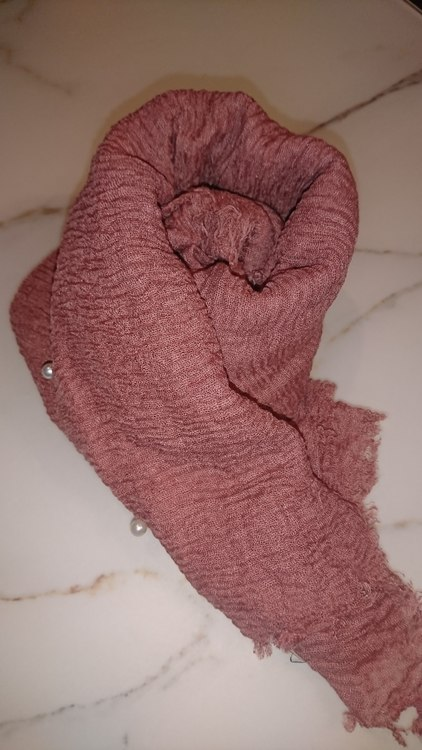 Cotton maxi hijab with pearls