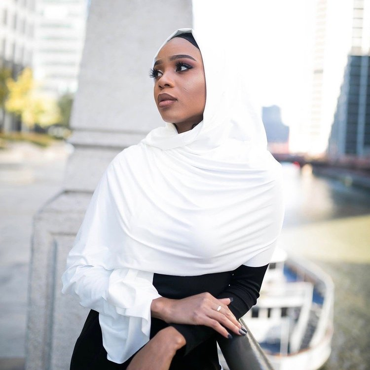 Suede hijab