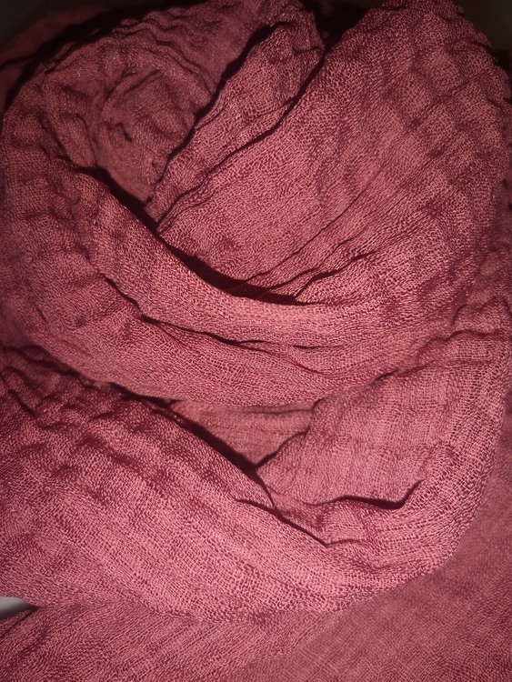 Vågig cotton hijab