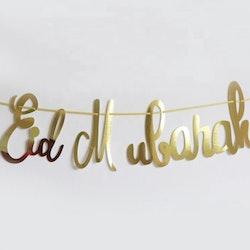 Eid Mubarak foil banner