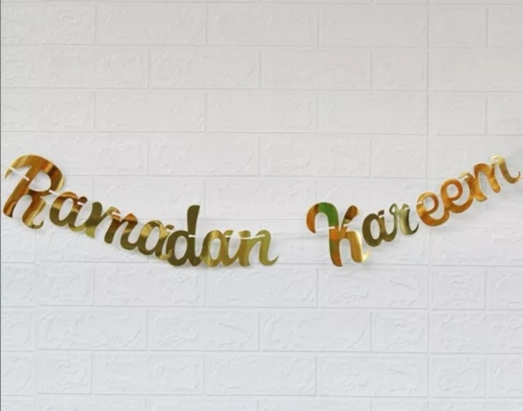 Ramadan Kareem foil banner