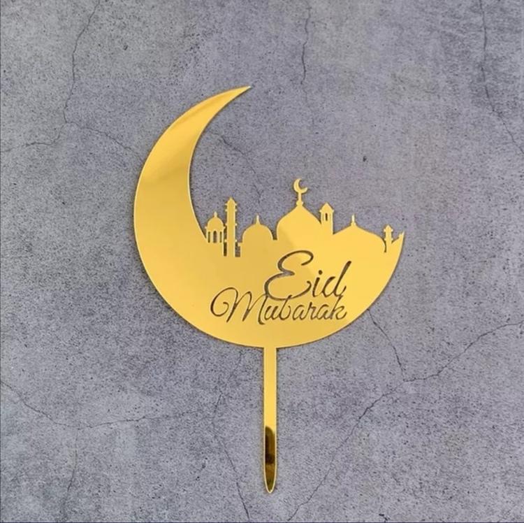 Eid Mubarak acrylic topper