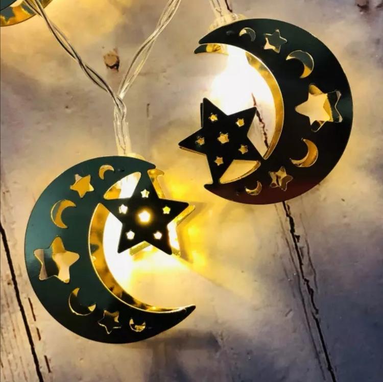Måne med stjärna LED ligth